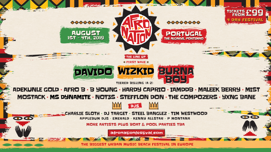 Wizkid, Davido and Burna Boy to headline Afro Nation Festival – GFM